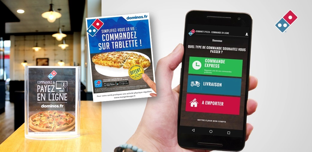 canaux de commandes franchise dominos pizza